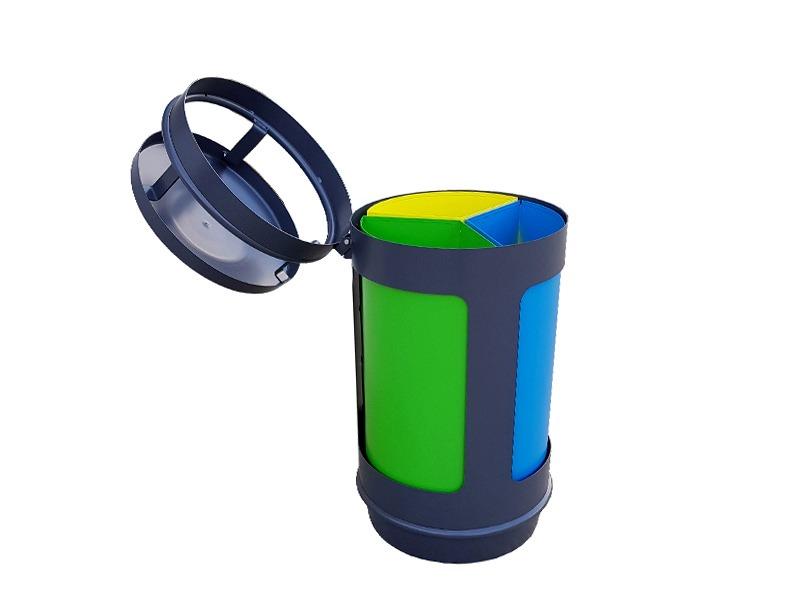 Papelera reciclaje para 3 residuos